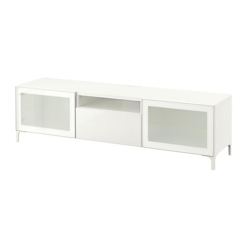 Bestå Tv Unit – White/selsviken High Gloss/white Frosted Glass With Regard To Most Popular Ikea White Gloss Tv Units (Image 12 of 20)