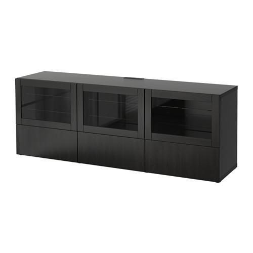 Bestå Tv Unit With Doors And Drawers – Lappviken/sindvik Black Intended For 2017 Black Tv Cabinets With Doors (Image 8 of 20)