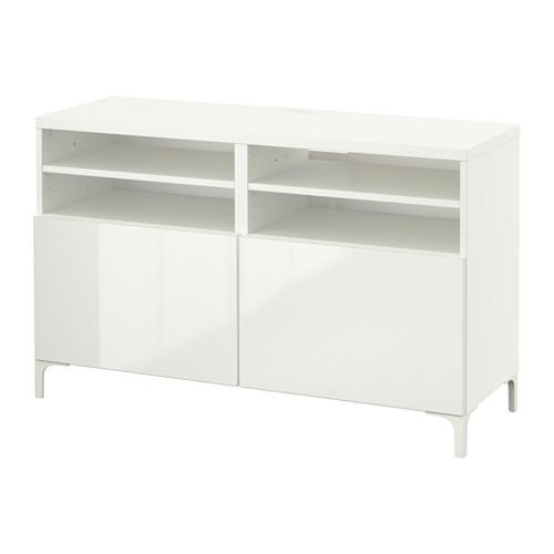 Bestå Tv Unit With Doors – White/selsviken High Gloss/white – Ikea Regarding Recent Ikea White Gloss Tv Units (View 13 of 20)