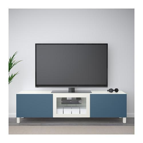 Bestå Tv Unit With Drawers And Door – White Lappviken/light Gray For Recent Tv Drawer Units (Image 9 of 20)