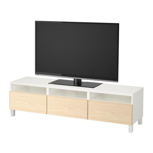 Bestå Tv Unit With Drawers – White/inviken Ash Veneer, Drawer Intended For Most Current Tv Drawer Units (Image 7 of 20)