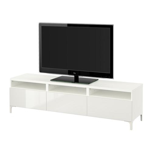 Bestå Tv Unit With Drawers – White/selsviken High Gloss/white Intended For Most Recently Released Ikea White Gloss Tv Units (Image 16 of 20)