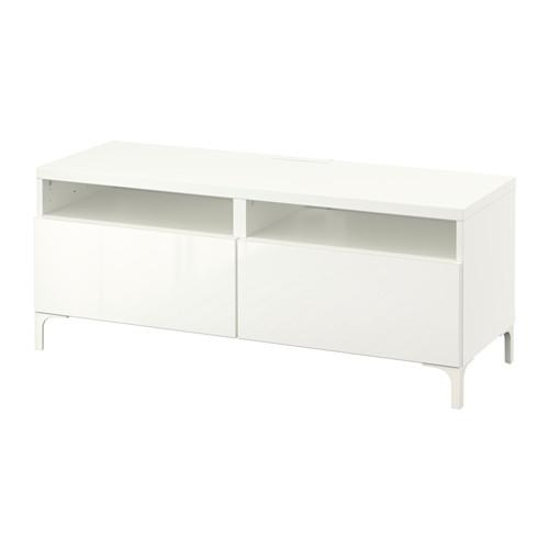 Bestå Tv Unit With Drawers – White/selsviken High Gloss/white With Regard To Most Popular Ikea White Gloss Tv Units (Image 17 of 20)