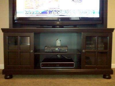"Better Home And Gardens 52"" Flat Screen Tv Stand With Hutch Within Best And Newest Expresso Tv Stands (Image 10 of 20)"