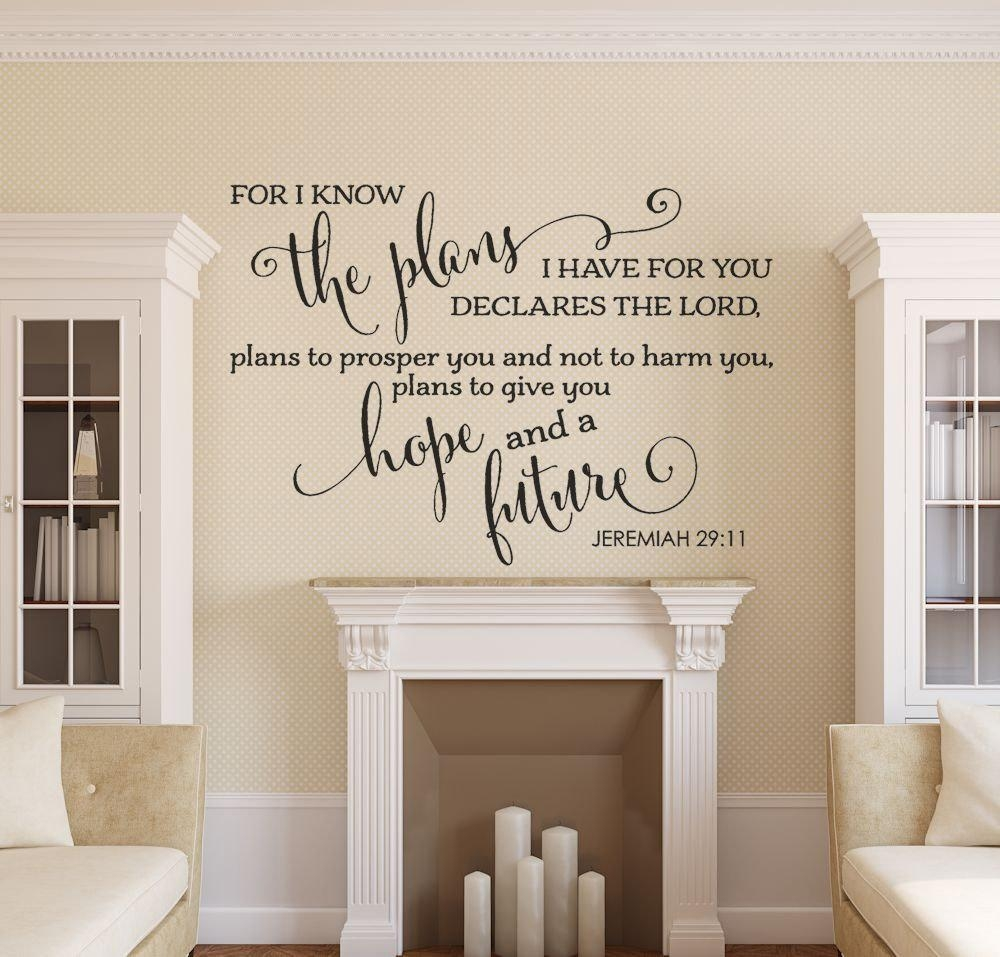 Bible Verse Wall Decal Christian Wall Decal Family Wall For Jeremiah 29 11 Wall Art (View 9 of 20)