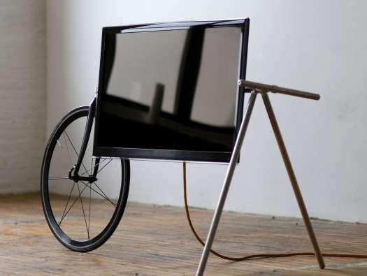 Bicycle Fused Flatscreen Mounts : Tv Barrow Regarding 2017 Easel Tv Stands For Flat Screens (Image 5 of 20)