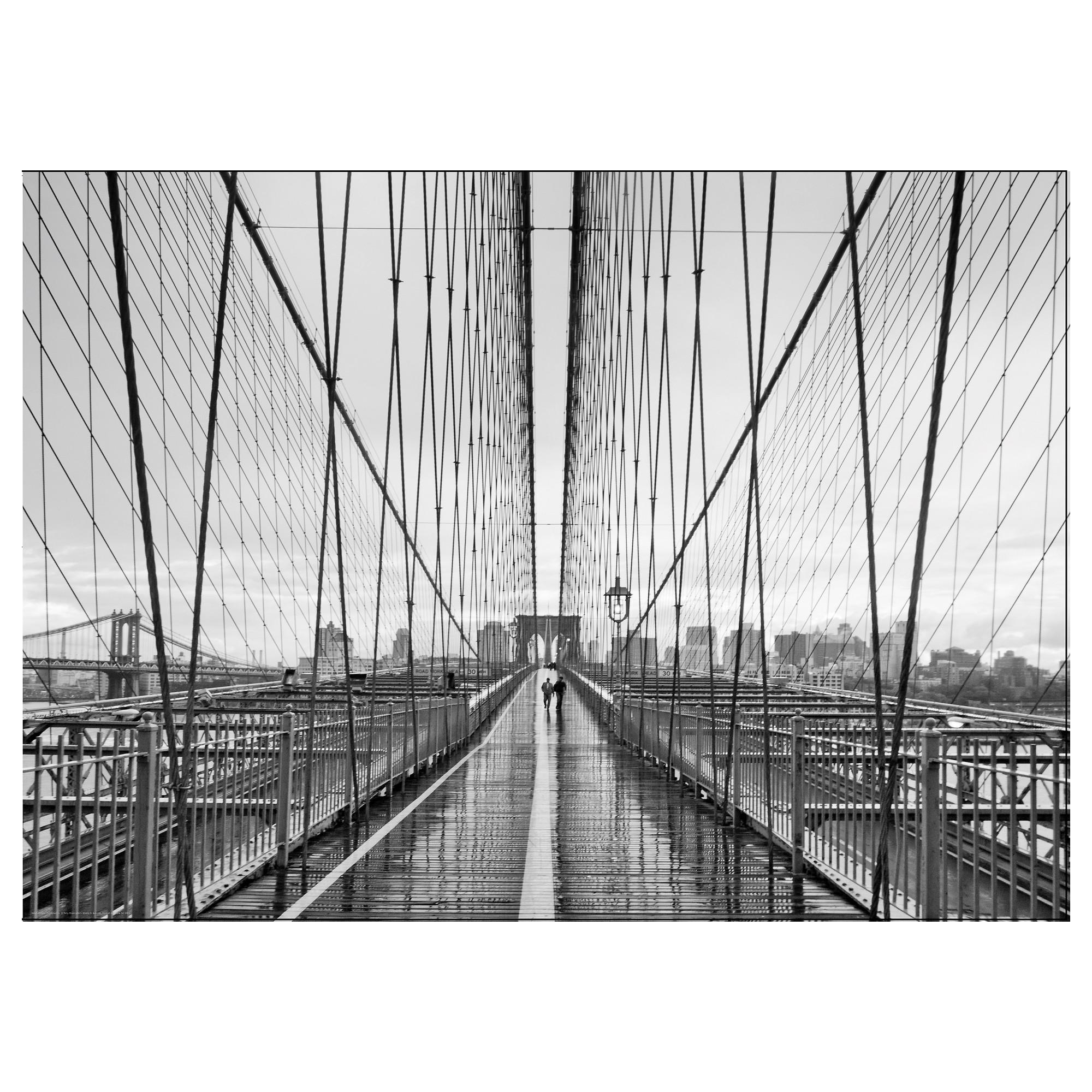 Bild Poster Walking On Brooklyn Bridge 70X50 Cm – Ikea Pertaining To Ikea Brooklyn Bridge Wall Art (Image 8 of 20)