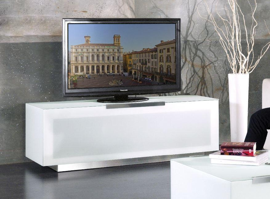 Bio Bergamo Modern White Tv Stand Made In Italy With 2017 White Modern Tv Stands (Image 5 of 20)