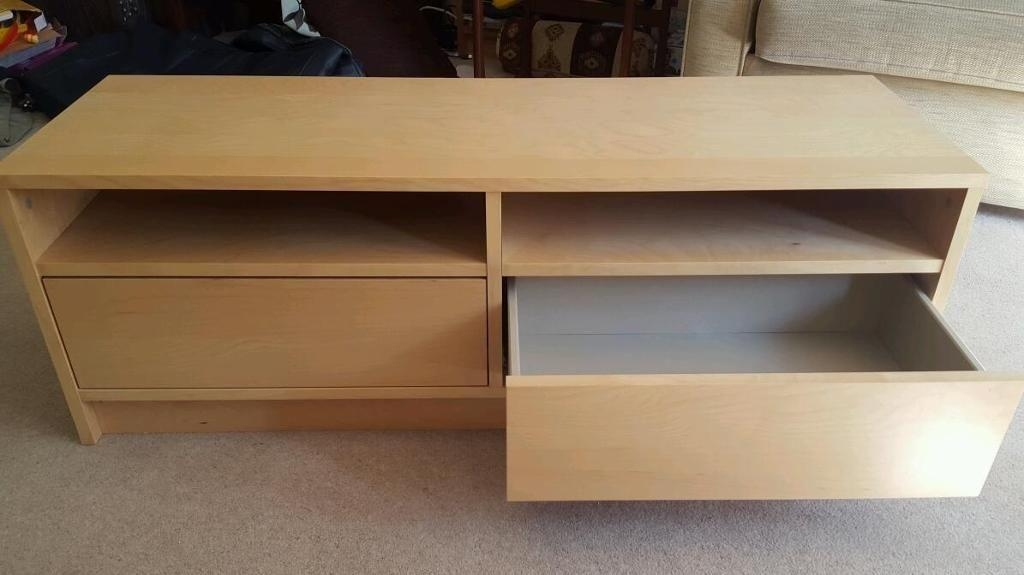 Birch Tv Stand/cabinet W/ Drawers Ex (Image 6 of 20)