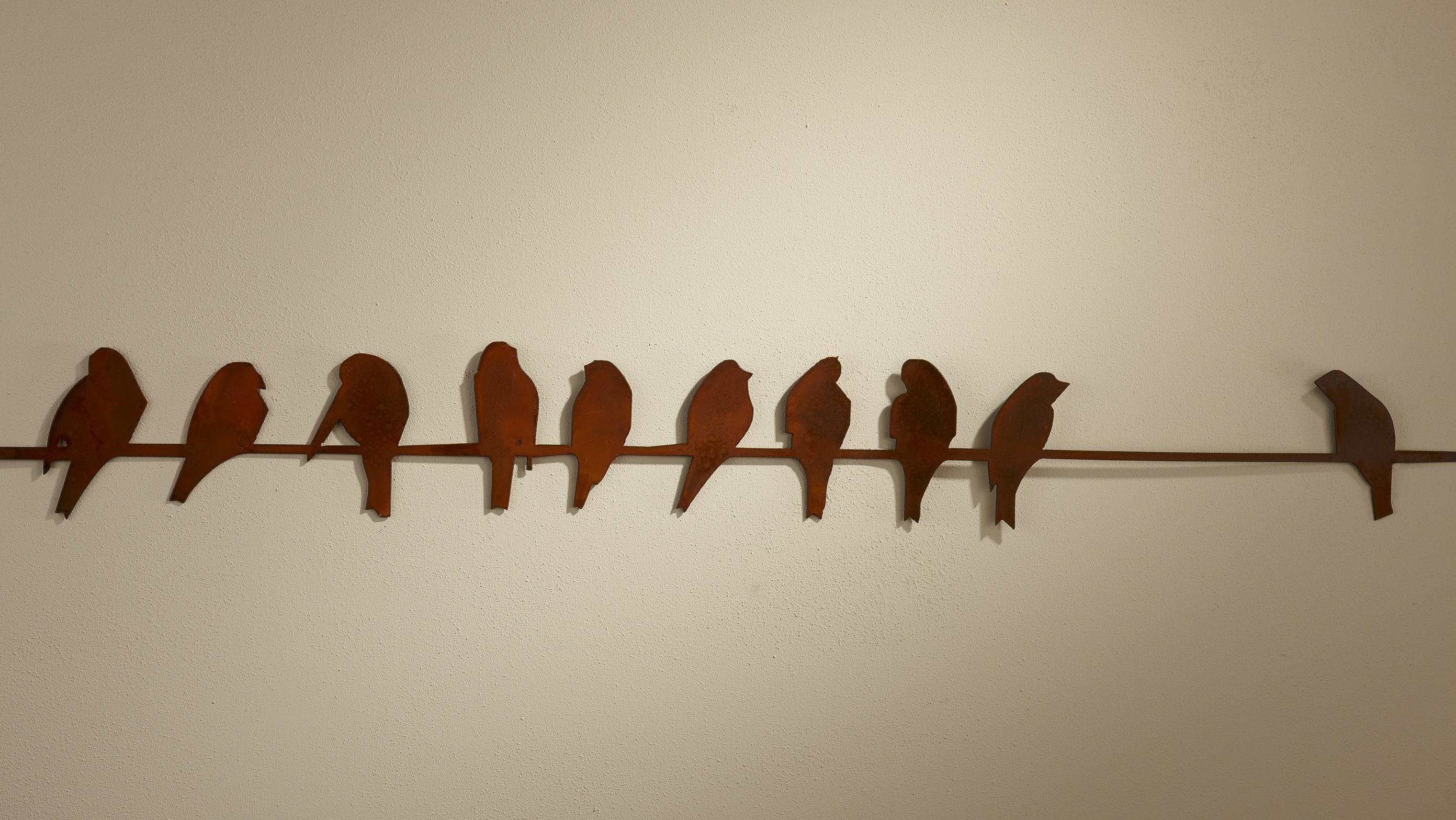"Birds On A Wire – 44"" Long X 6"" High 
