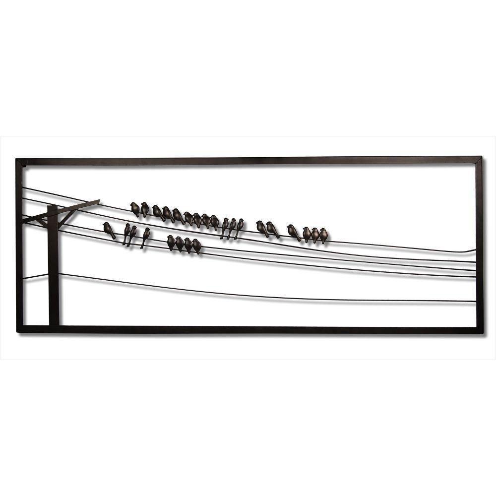 Birds On Wire 48 In. W X 1 In. D X 18 In (Image 9 of 20)