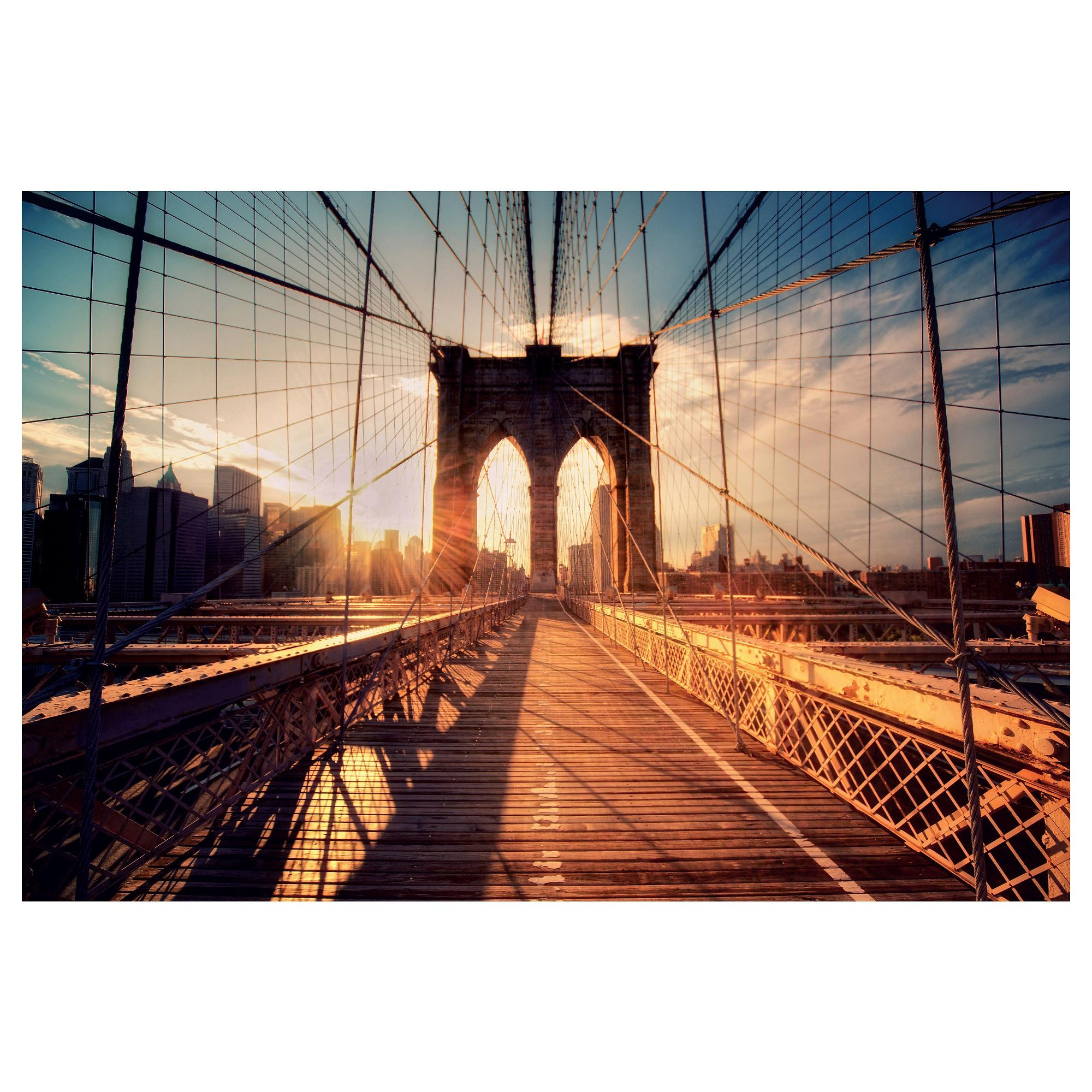Björksta Picture Brooklyn Bridge At Sunset 118X78 Cm – Ikea Within Ikea Brooklyn Bridge Wall Art (View 2 of 20)