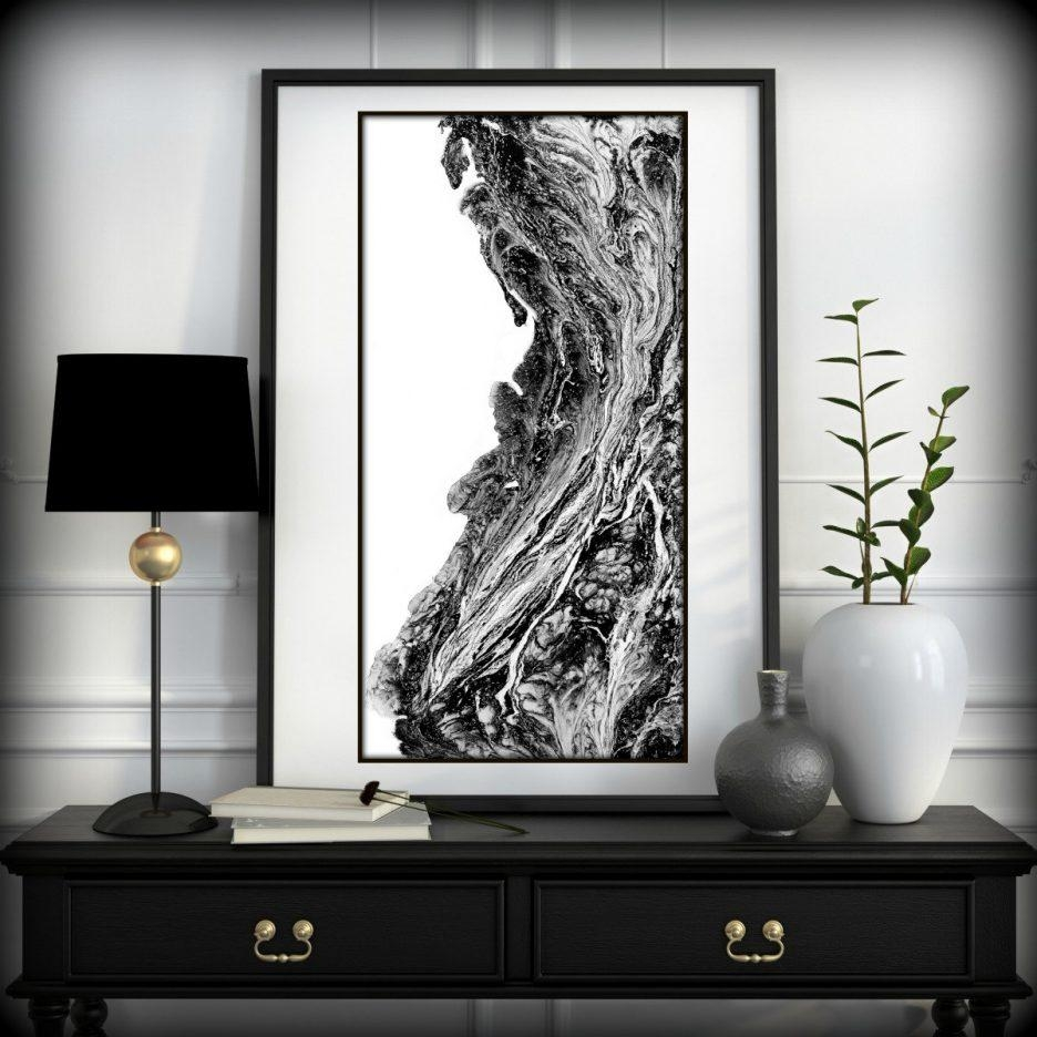 Black Abstract Wallpaper Designs Black Abstract Wallpaper Vector Regarding Abstract Art Wall Murals (View 20 of 20)