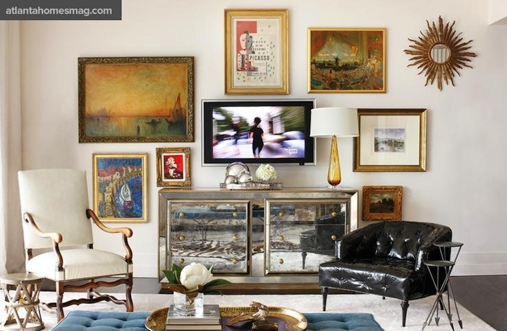 Black And Gold Tv Cabinet Design Ideas In Most Current Gold Tv Cabinets (Image 6 of 20)