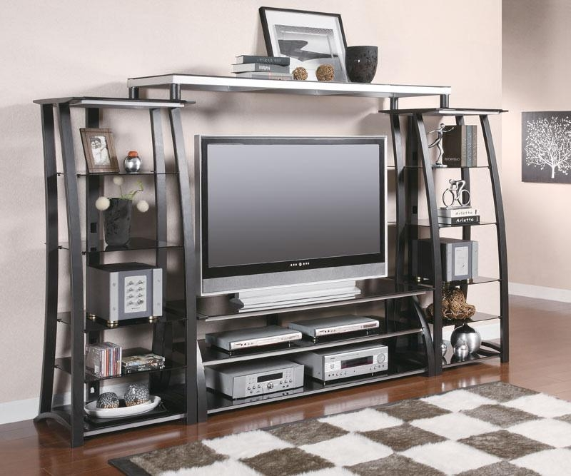 Black And Silver Tv Stand | Tv Stands Intended For Most Recent Silver Tv Stands (Image 6 of 20)