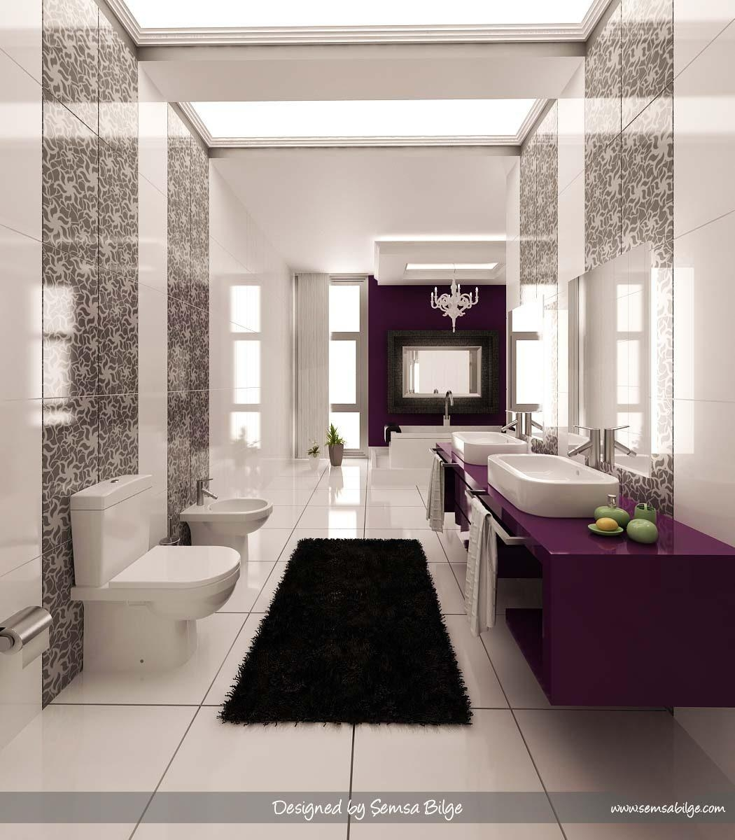 Black And White Bathroom Wall Art Dark Vanity Cabinet Chrome Regarding Purple Bathroom Wall Art (View 18 of 20)