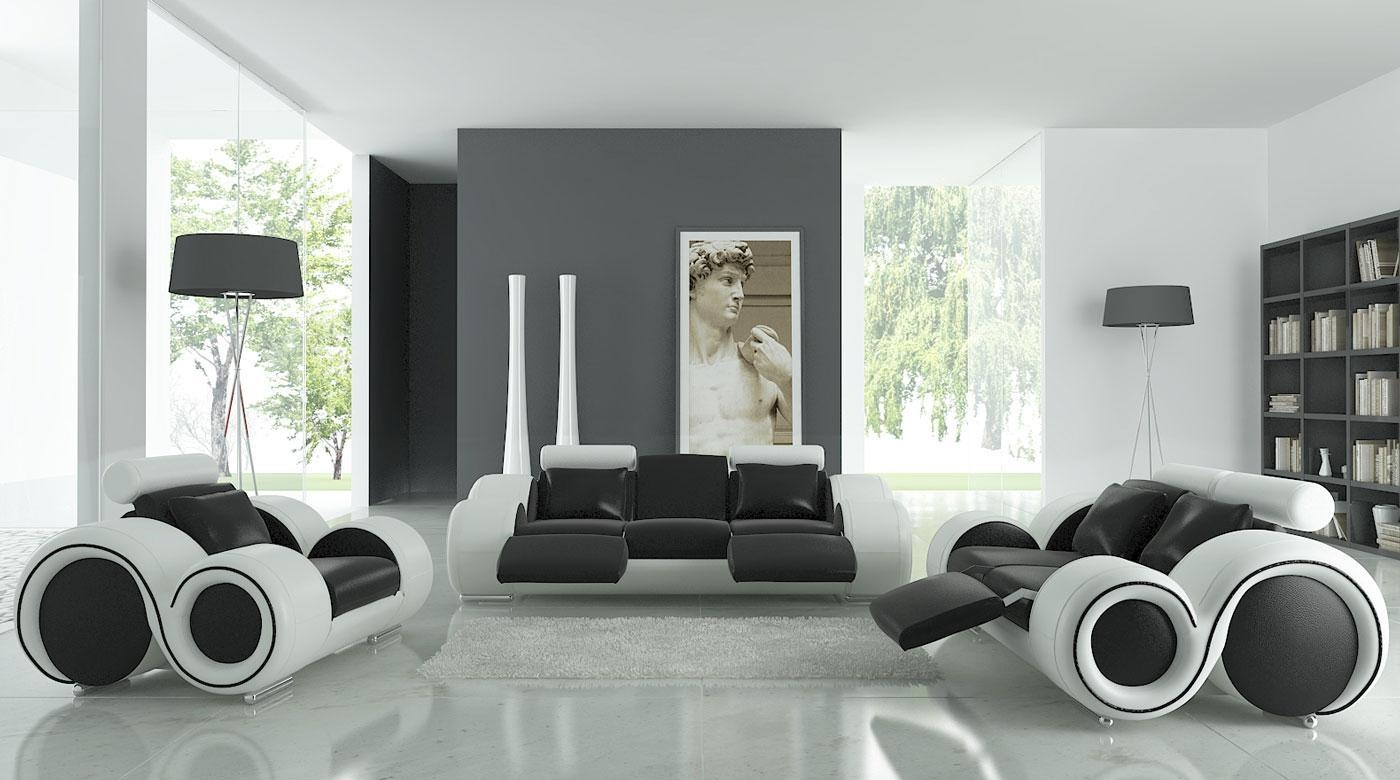 Black And White Living Room Design And Ideas – Inspirationseek Intended For White And Black Sofas (Image 9 of 21)