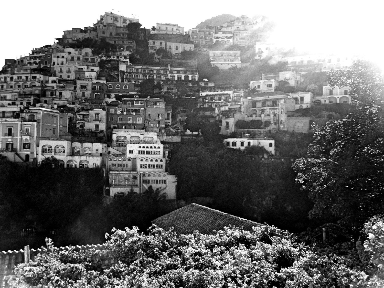 Black And White Positano Travel Photography – Amalfi Coast – Wall Intended For Italian Coast Wall Art (View 4 of 20)