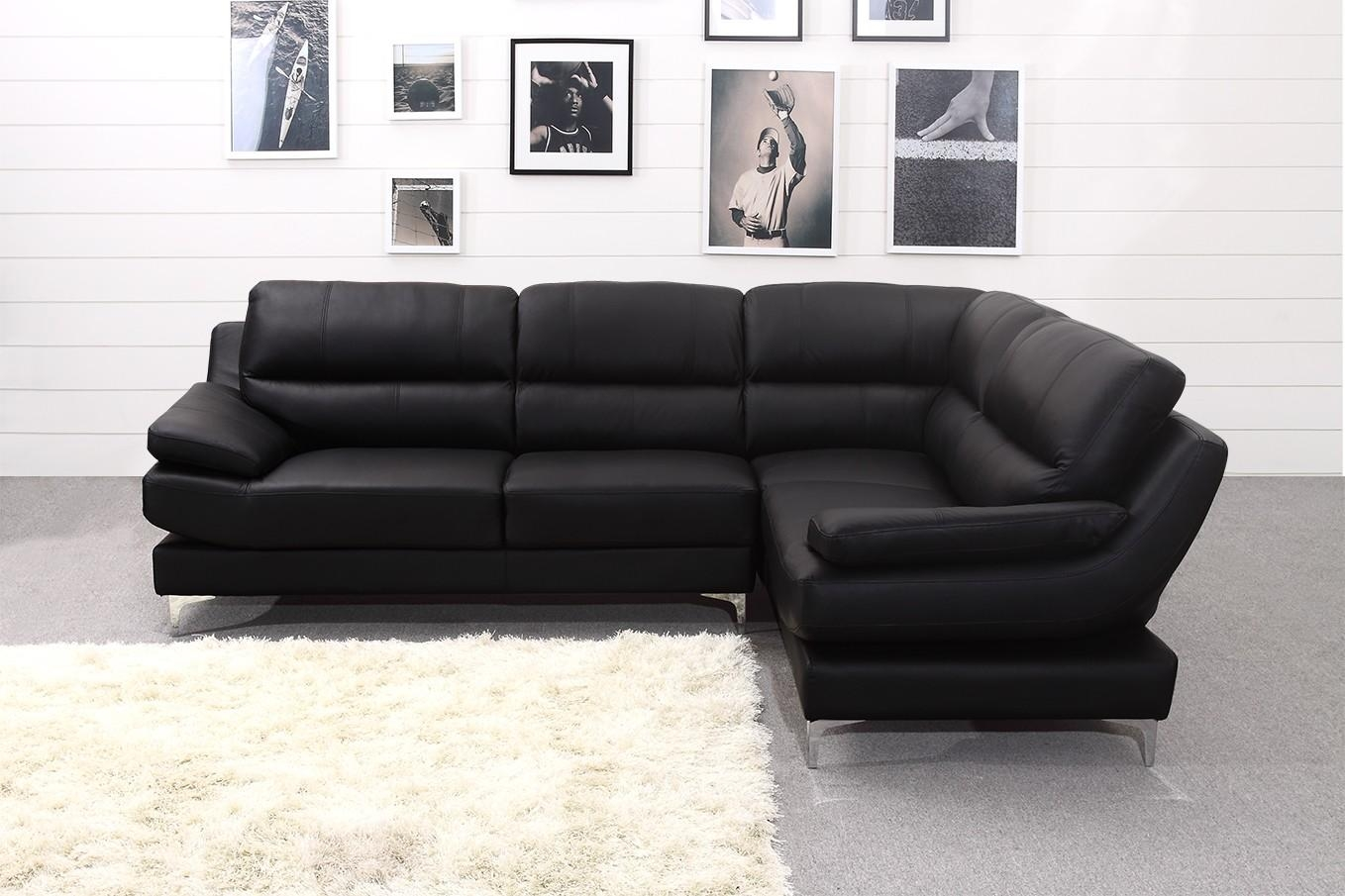Black Corner Sofa And Leather Corner Sofa Black White Montana With Large Black Leather Corner Sofas (Image 1 of 22)