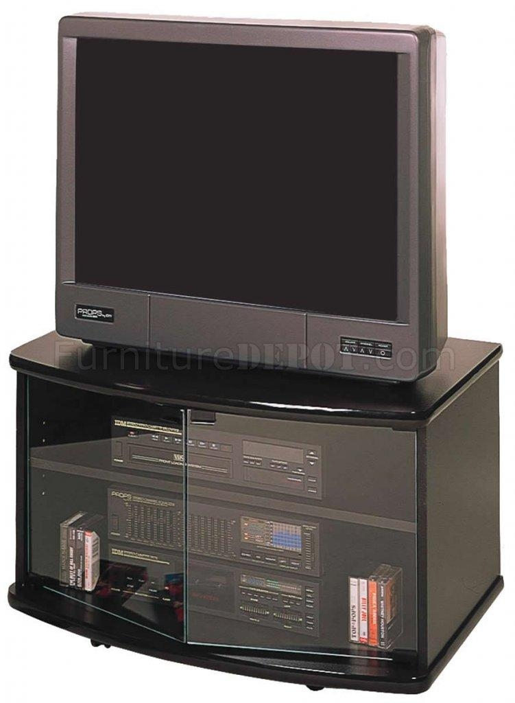 Featured Photo of Black Tv Stand With Glass Doors