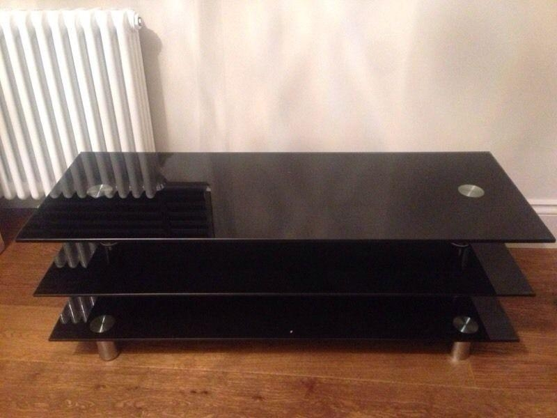 Black Glass Dwell Tv Stand – £50 | In Clifton, Bristol | Gumtree Intended For Most Up To Date Dwell Tv Stands (Image 3 of 20)