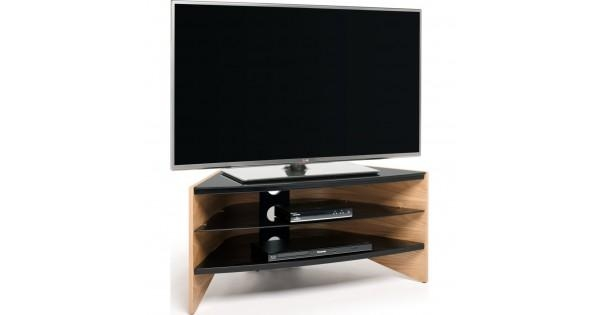 Black Glass Shelves; Screens Up To 50 Regarding Most Popular Techlink Riva Tv Stands (Image 1 of 20)