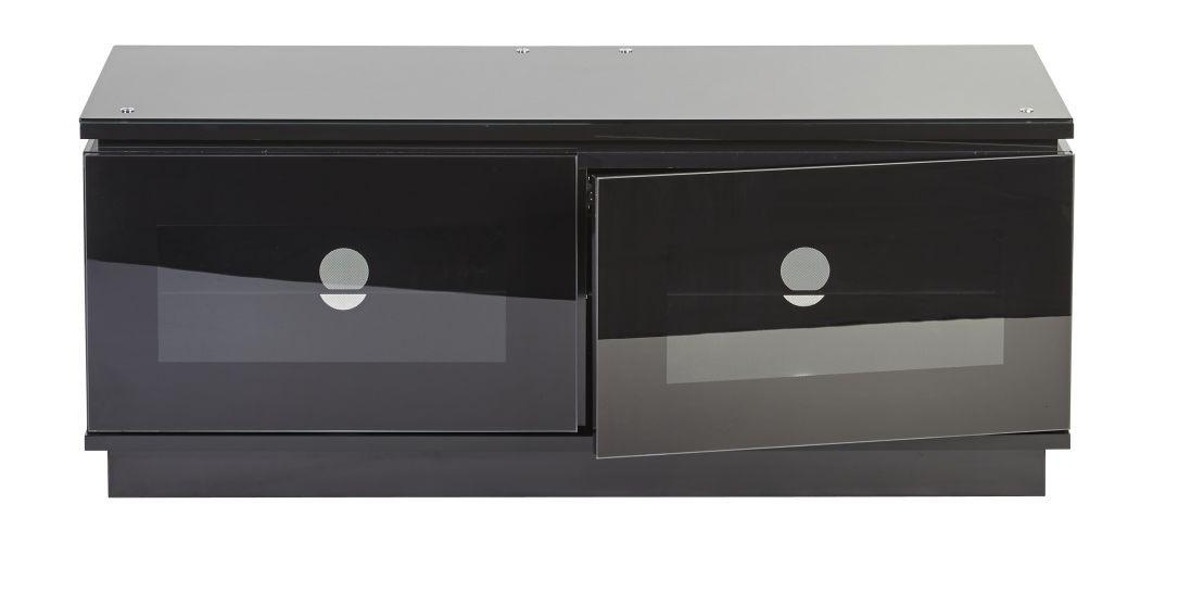 Black Gloss Tv Unit Up To 50 Inch Flat Screen Tv | Mmt D1120 Pertaining To Most Recently Released Black Tv Cabinets With Doors (View 3 of 20)