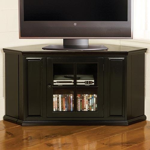 Black Jamison Corner Tv Cabinet | Sturbride Yankee Workshop Pertaining To Latest Black Corner Tv Cabinets (Image 7 of 20)