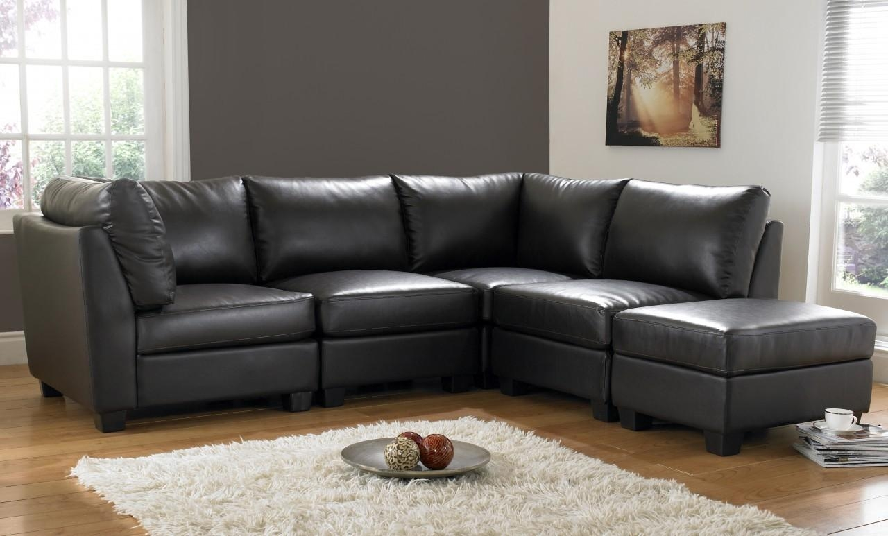 Black Leather Corner Sofas – S3Net – Sectional Sofas Sale : S3Net With Regard To Small Brown Leather Corner Sofas (Image 1 of 21)