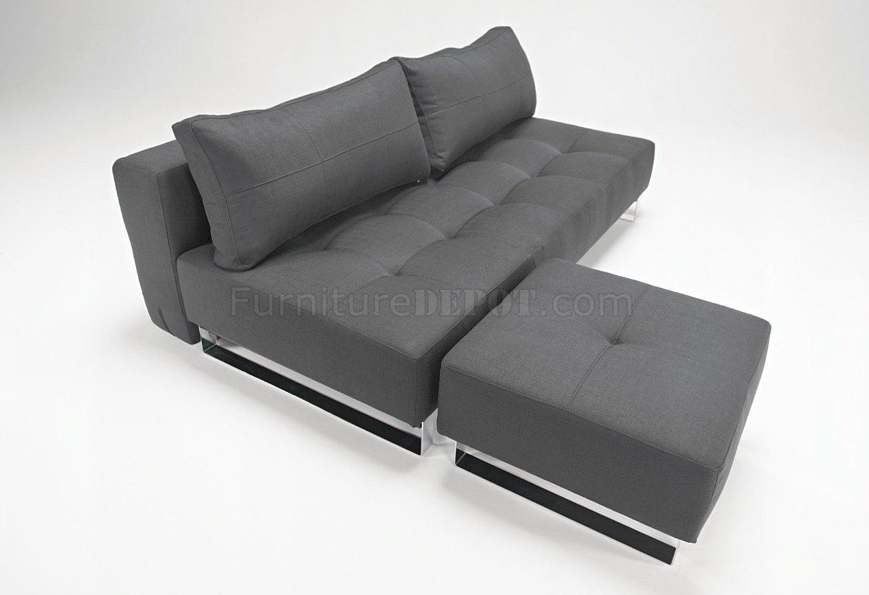 Black Or Grey Fabric Modern Sofa Bed Lounger From Innovation Throughout Sofa Lounger Beds (Image 3 of 20)