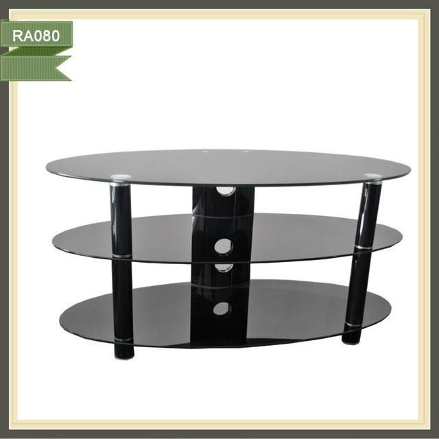 Black Oval Tv Stand Source Quality Black Oval Tv Stand From Global Within Recent Oval Glass Tv Stands (Image 4 of 20)