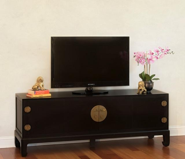 Black Tv Stand Cabinet – Chinese Ming Style – Asian – Family Intended For 2017 Asian Tv Cabinets (Image 12 of 20)