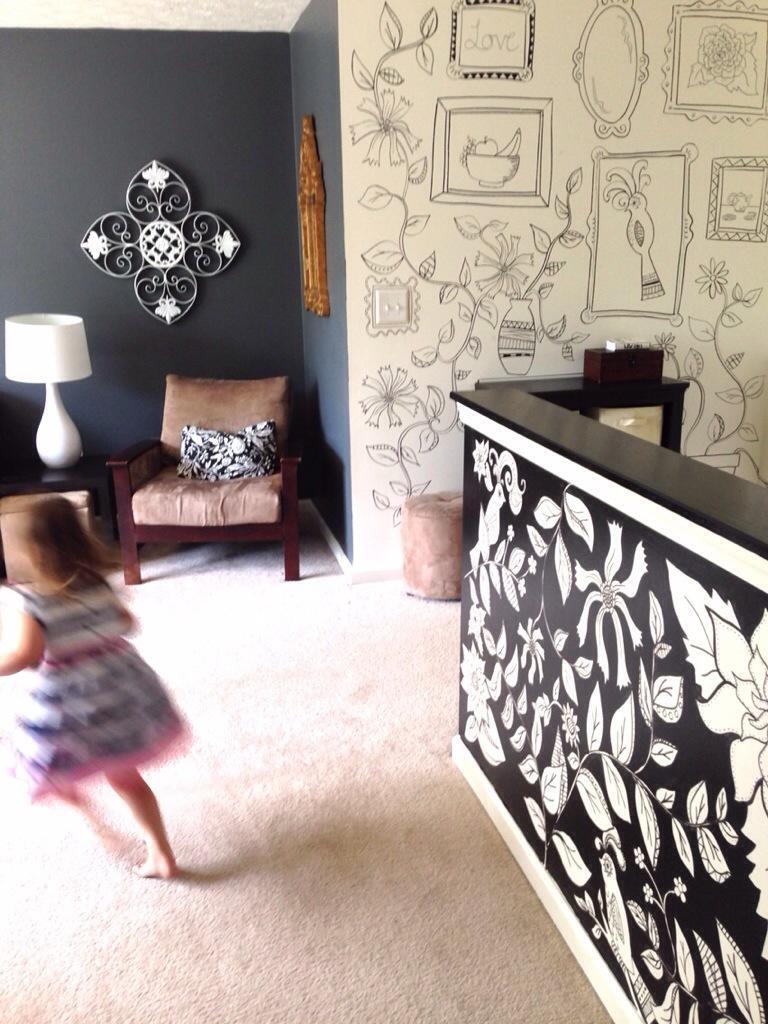 Black & White Sharpie Mural | Kelly Gene In Sharpie Wall Art (Image 6 of 20)