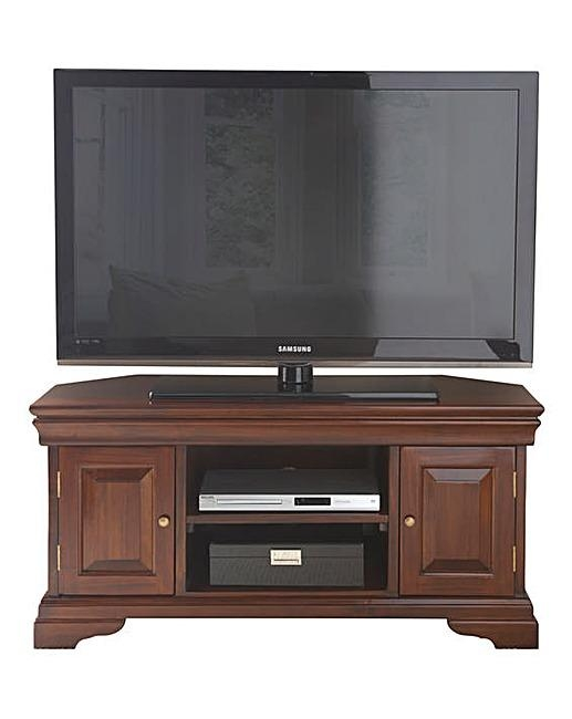Blenheim Mahogany Corner Tv Unit | Ambrose Wilson Within Current Mahogany Corner Tv Cabinets (Image 6 of 20)