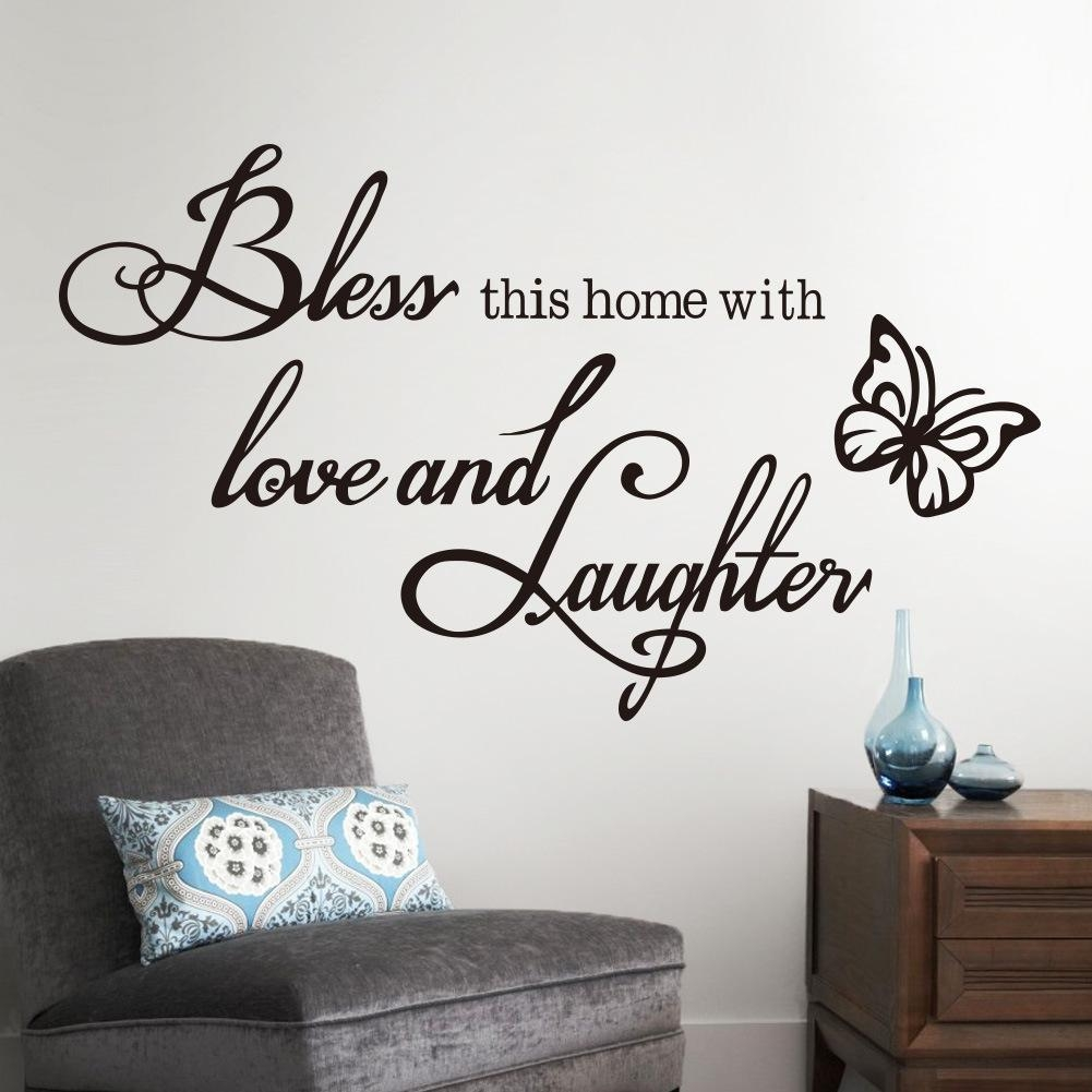 Bless This Home Vinyl Wall Decal Sticker God Jesus Bible Religious For Scripture Vinyl Wall Art (View 20 of 20)