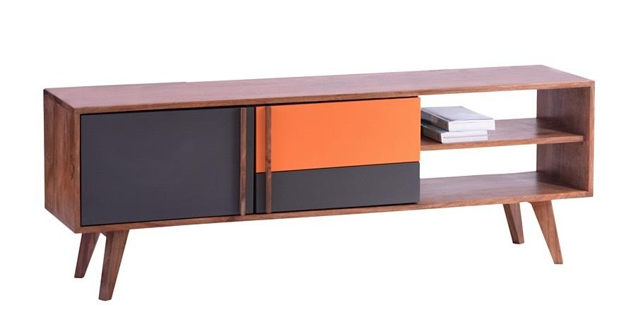 Bliss Tv Stand Natural | Grey | Orange | Modern Digs Furniture For Most Up To Date Orange Tv Stands (View 19 of 20)