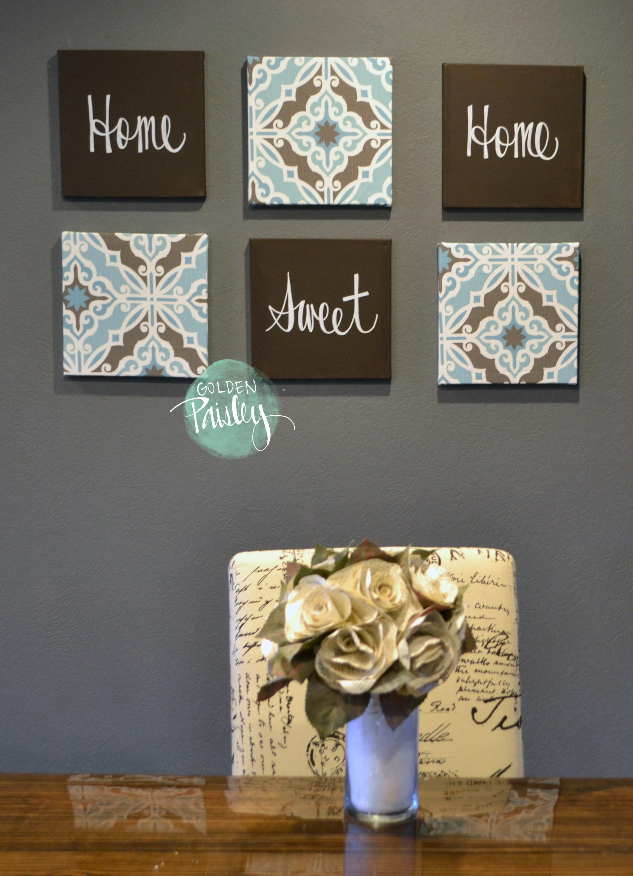 Featured Image of Blue And Brown Wall Art