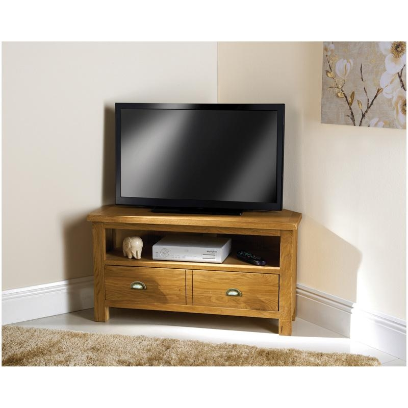 B&m Wiltshire Oak Corner Tv Unit – 319227 | B&m Inside Most Up To Date Dark Wood Corner Tv Stands (Image 5 of 20)