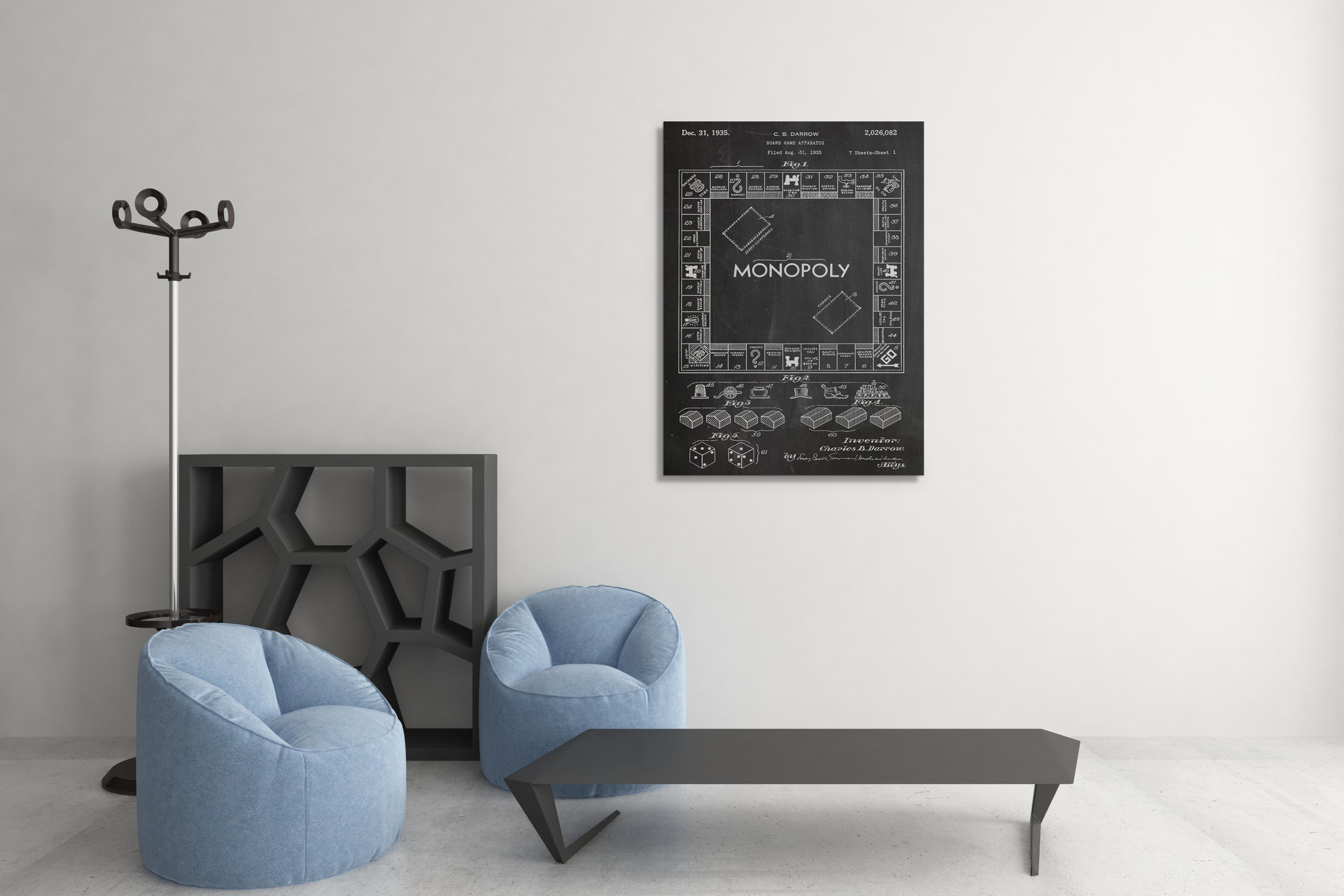 Board Game Patent Print Canvas Wall Art Throughout Board Game Wall Art (View 17 of 20)