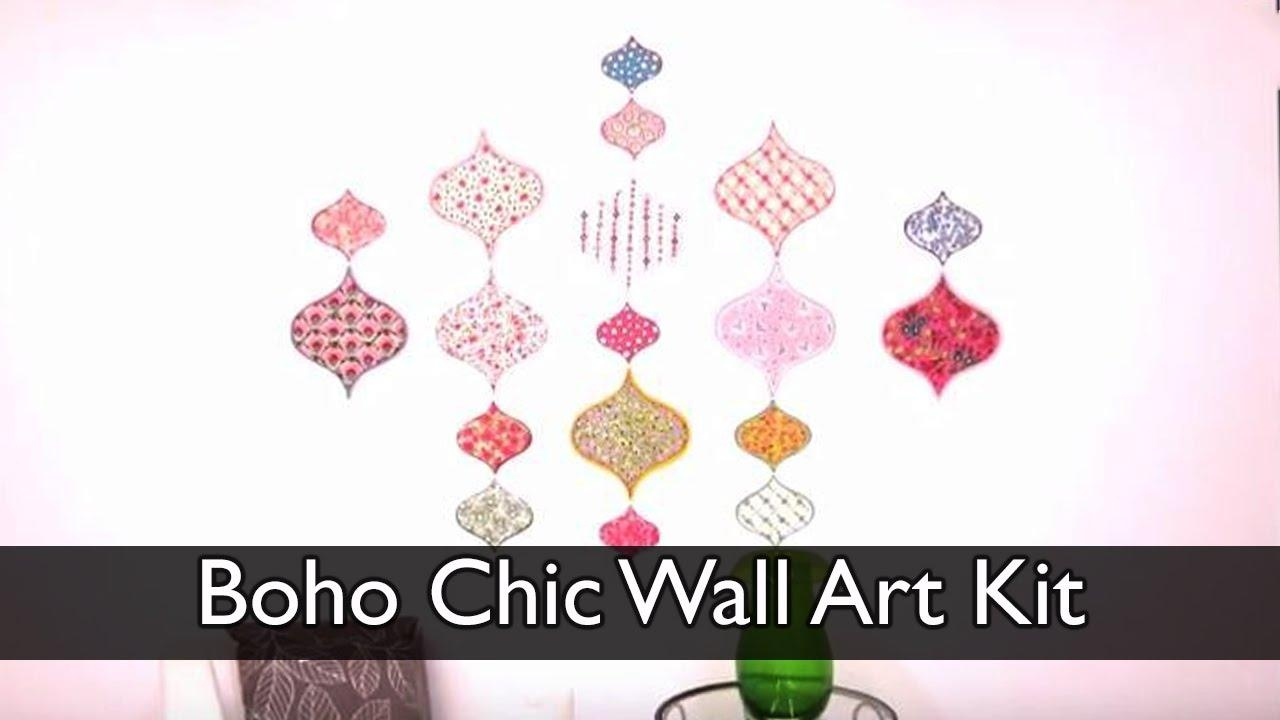Boho Chic Wall Art Kit – Youtube With Boho Chic Wall Art (Image 7 of 20)