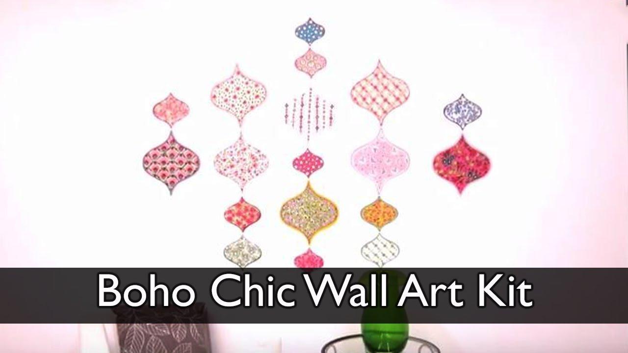 Boho Chic Wall Art Kit – Youtube With Boho Chic Wall Art (View 17 of 20)