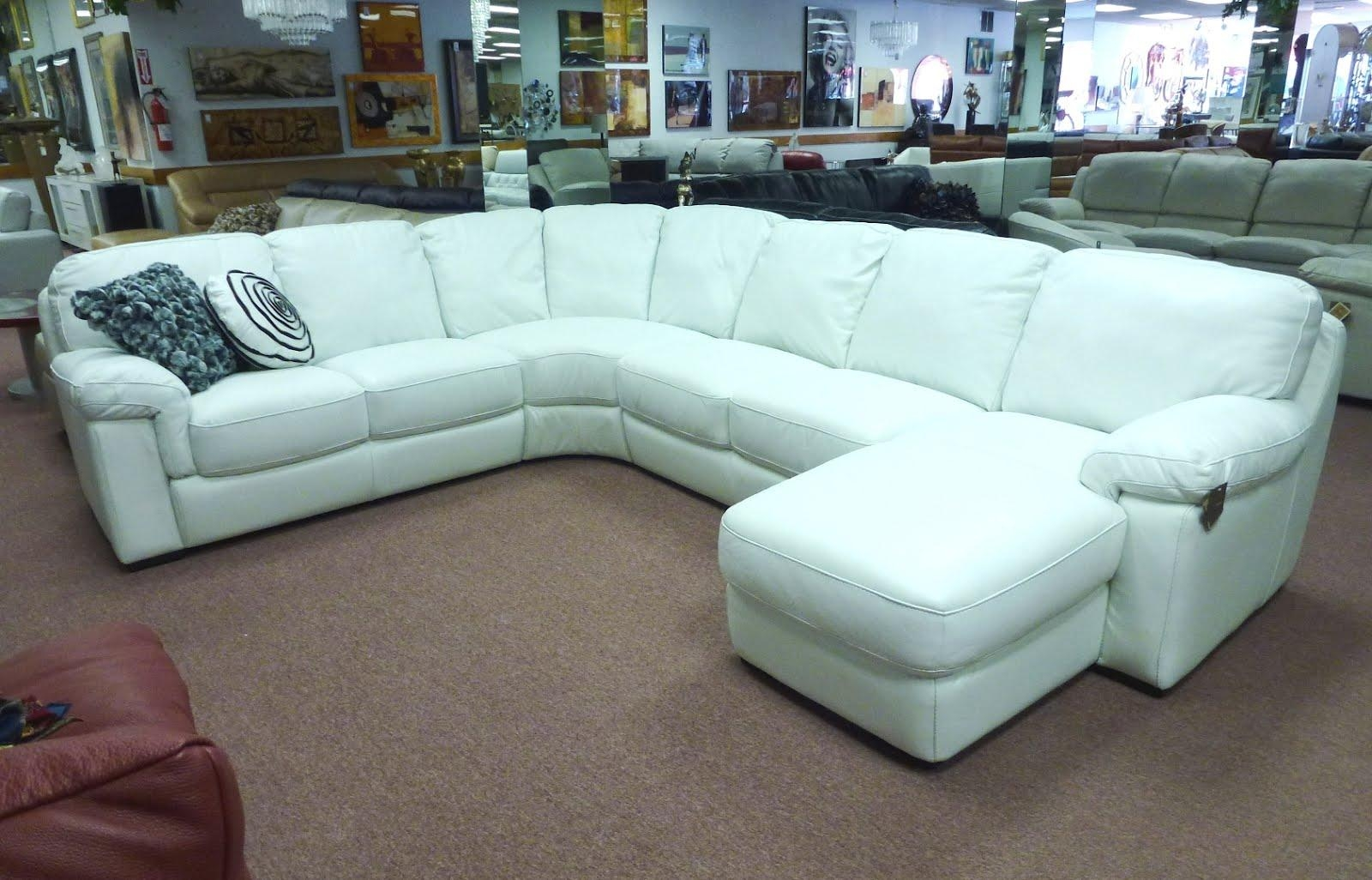 Bonded Leather White Sectional Sofa – S3Net – Sectional Sofas Sale Pertaining To White Sectional Sofa For Sale (Image 2 of 21)
