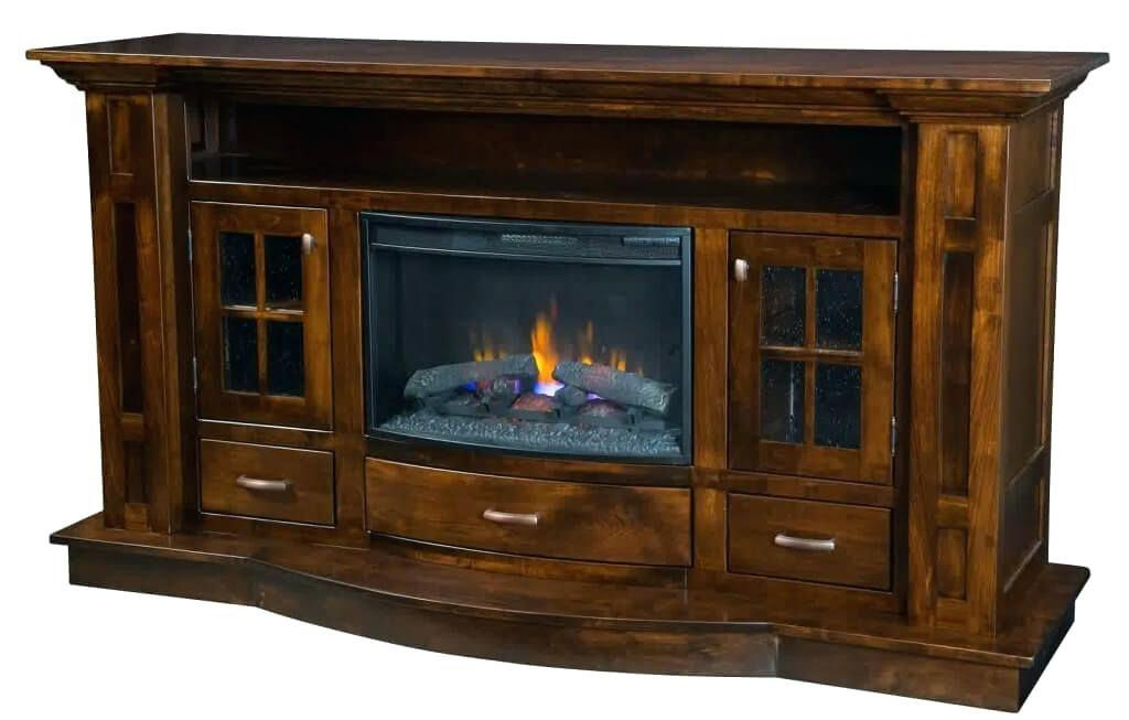 Bookcase ~ Furniture Solid Black Electric Fireplace Kit With With Regard To 2017 Tv Stands With Matching Bookcases (Image 5 of 20)