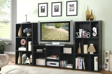 Bookcase ~ White Tv Stand With Bookcase Tv Stand With Matching Inside Most Popular Tv Stands And Bookshelf (Photo 3 of 20)