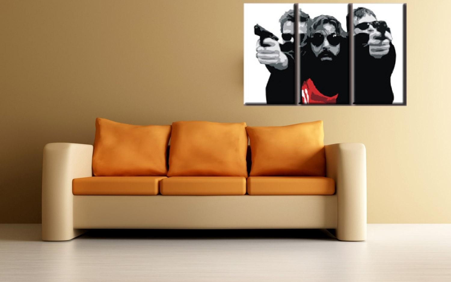 Boondock Saints Hand Painted Canvas Acrylic Pop Art Oil Inside Boondock Saints Wall Art (Image 8 of 20)