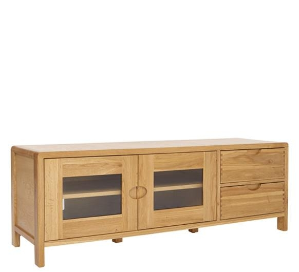 Bosco Wide Tv Unit – Tv & Media Cabinets – Ercol Furniture With 2017 Wide Oak Tv Unit (Image 6 of 20)
