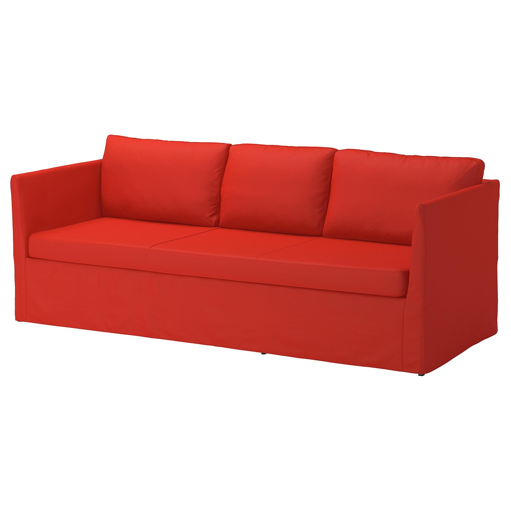 Bråthult 3 Seat Sofa Vissle Red/orange – Ikea For Orange Ikea Sofas (View 11 of 20)