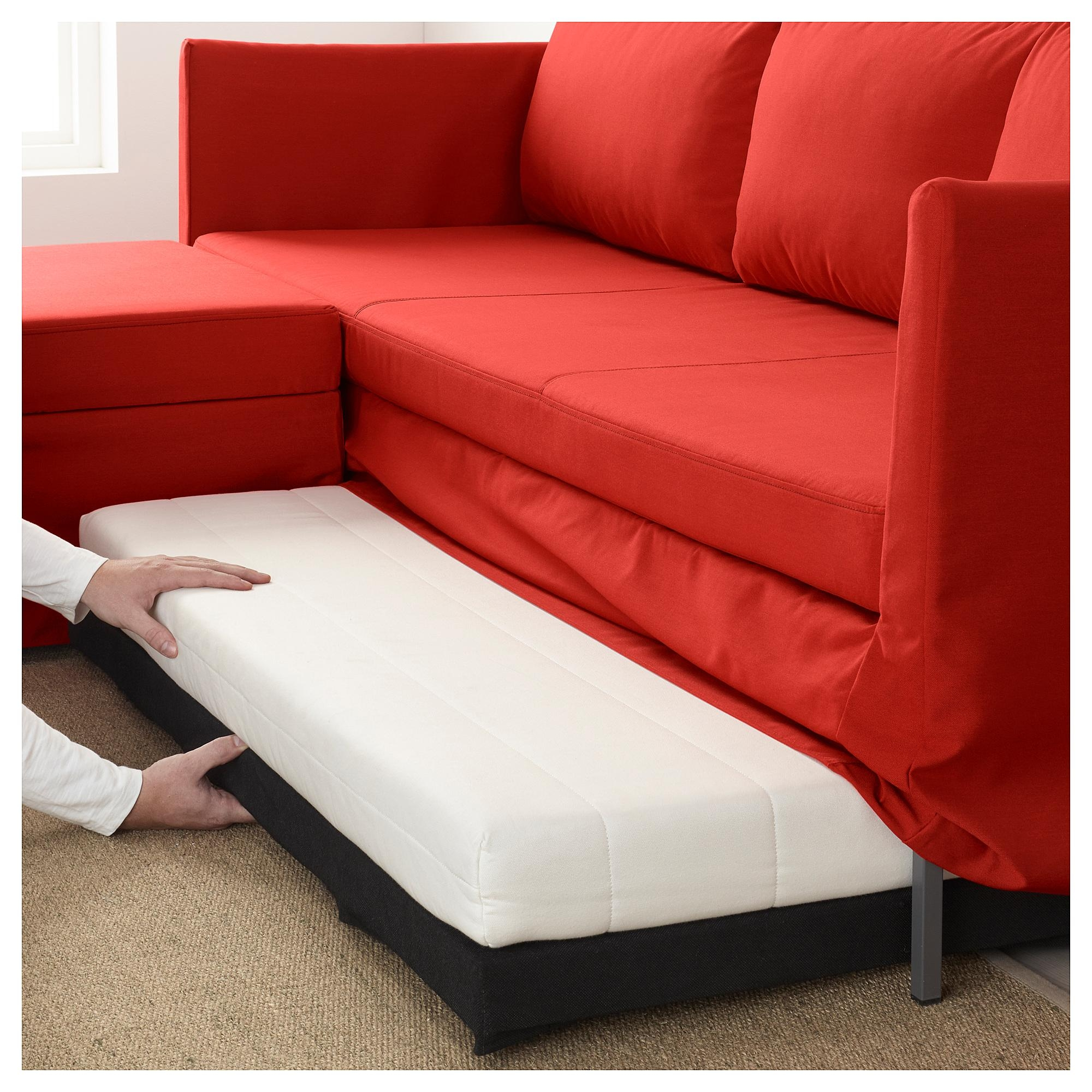 Bråthult Corner Sofa Bed Vissle Red/orange – Ikea With Red Sofa Beds Ikea (View 6 of 20)