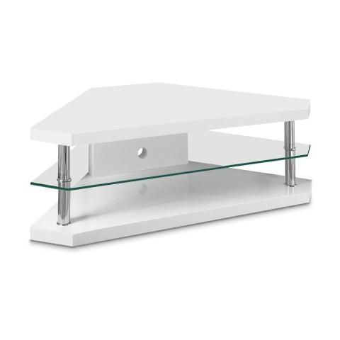 Featured Image of White High Gloss Corner Tv Unit