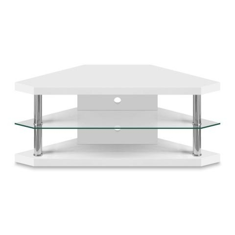 Featured Image of White Gloss Corner Tv Stand